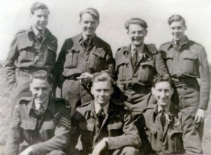 Pilot Charles 'Mike' Solly and his crew
